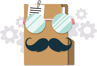 Folder with mustasche for some reason