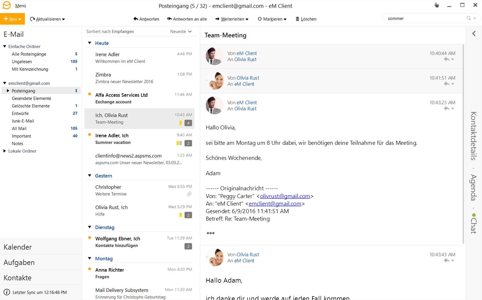 Features Email Em Client Em Client