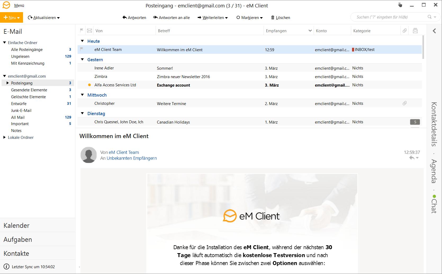 EM CLIENT Email Programm für Windows